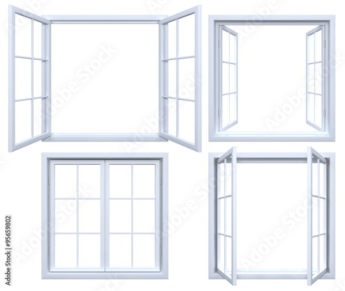 Collection of isolated window frames