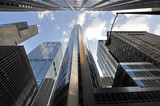 Chicago skyscrapers in financial district, IL, USA