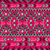Geometrical ethnic seamless pattern