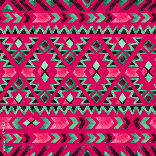 Geometrical ethnic seamless pattern - 95708425