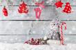 Obrazy na płótnie, fototapety, zdjęcia, fotoobrazy drukowane : Christmas snowman decoration
