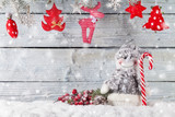 Fototapety Christmas snowman decoration