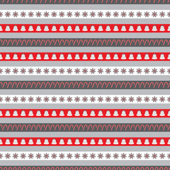 Christmas seamless pattern grey small