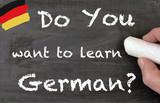 Fototapety do you speak german chalkboard