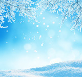 Fototapety winter christmas background