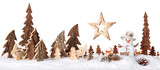 Fototapety Wooden decoration as a cute winter scene