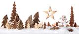 Fototapety Wooden decoration as a cute winter scene