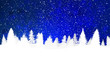 Detaily fotografie Blue Holiday Background with Snow on Christmas Trees