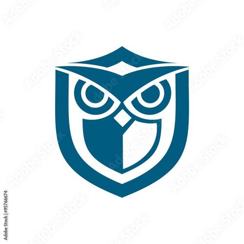 owl shield blue
