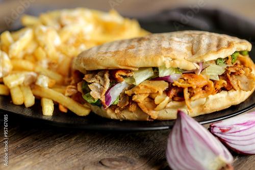 Poster döner kebab et frites 1