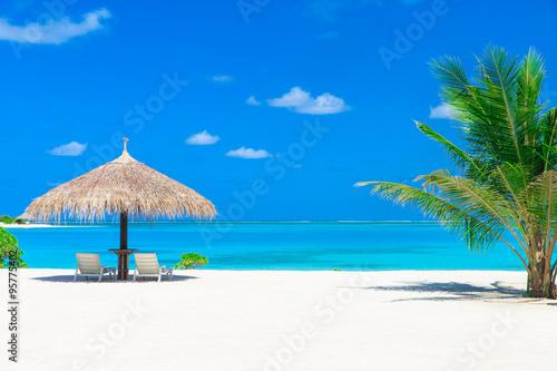 Foto op Aluminium Tropical strand sea in Maldives