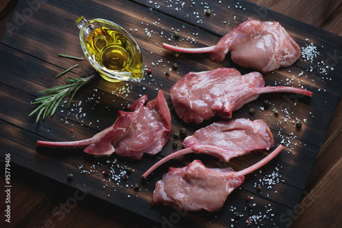 Foto: Bobby veal rack steaks with salt, pepper, rosemary and olive oil
