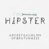Font for hipsters and seamless paper texture in one