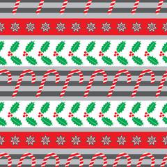 Christmas holly seamless pattern big