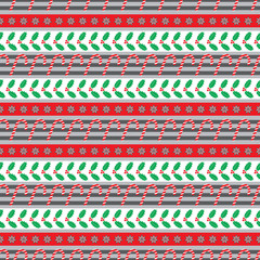 Christmas holly seamless pattern small