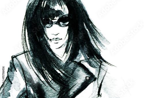 portret-kobiety-streszczenie-akwarela-fashion-tlo