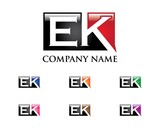 E & K Letter Logo