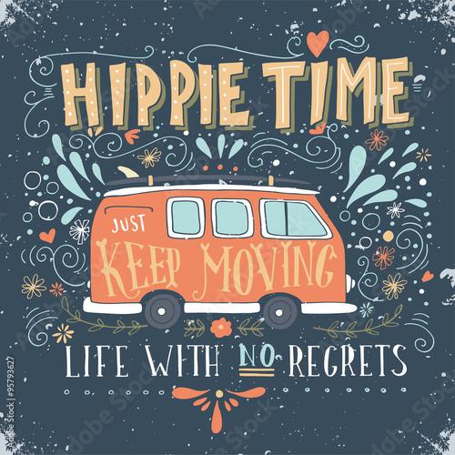 Vintage hippie time