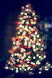 Bokeh Christmas tree lighting for background
