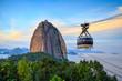 Quadro Cable car and  Sugar Loaf mountain