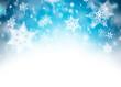 Obrazy na płótnie, fototapety, zdjęcia, fotoobrazy drukowane : winter background with snowflakes and place for text