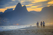 Quadro View of Ipanema Beach in the evening, Brazil