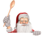 Cooking with Santa Claus to celebrate an happy Christmas