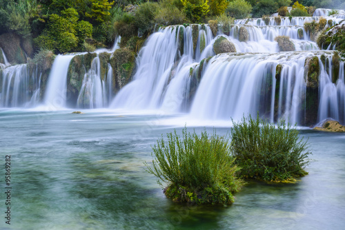 Waterfalls in Krka National Park, Croatia - 95869282