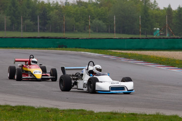 historical race in the Masaryk circuit Brno