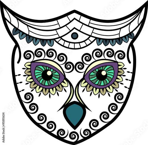 """""""Stylized owl head vector"""" obrazów stockowych i plików ..."""