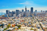 Fototapety Scenic view of downtown in San Francisco