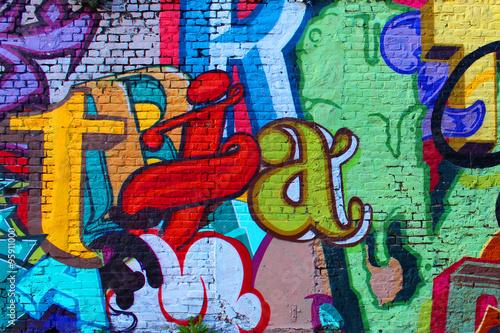 Street art / Alphabet Poster