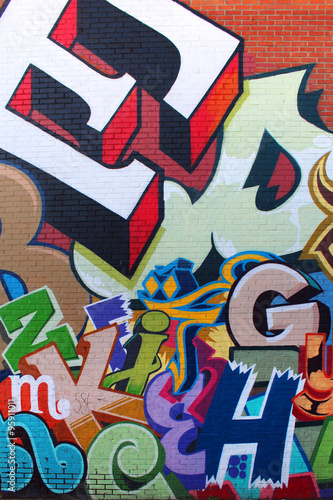 Póster Arte de la calle / Alfabeto