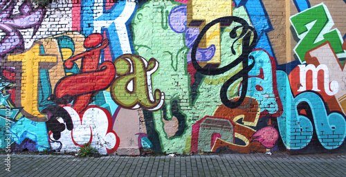 Plakát, Obraz Street art / Alphabet