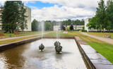 Fountain in the territory of the sanatorium