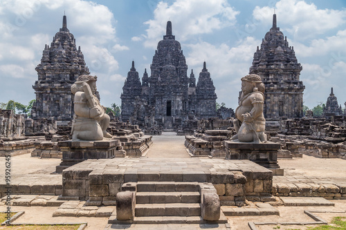 Plagát Candi Sewu, part of Prambanan Hindu temple,  Indonesia