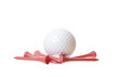White Golf Ball, Pink Tees, Isolated