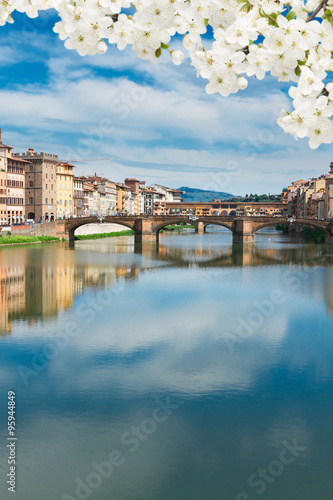 Stampa su Tela Ponte Vecchio, Florence, Italy