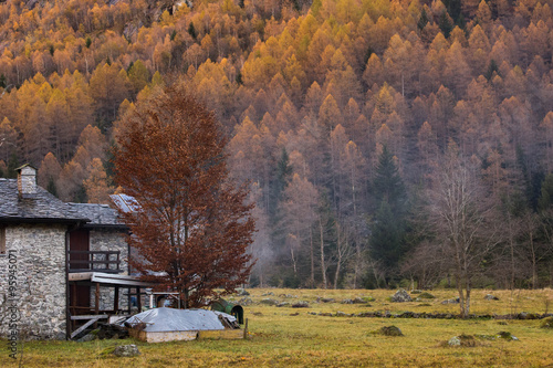 Mountain rock village Poster