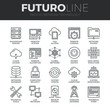 Network Technology Futuro Line Icons Set