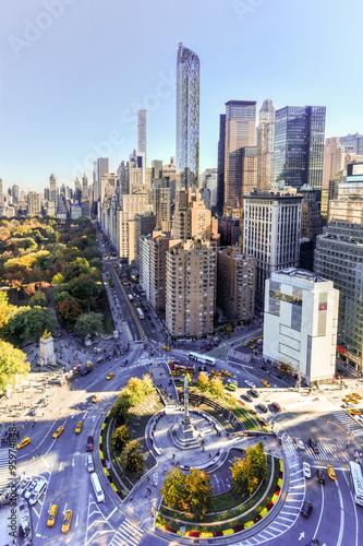 Foto op Plexiglas New York TAXI Central Park South - New York City