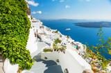 Fototapety White architecture on Santorini island, Greece