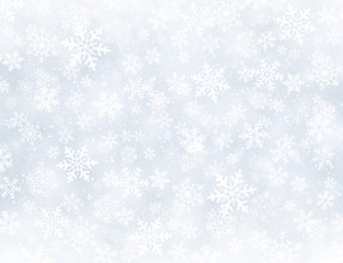 Winter snowflakes background