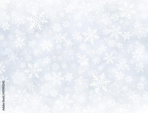 Tło zimowe płatki śniegu