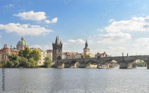 Foto op Canvas Praag Charles Bridge in Prague.