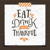 Thanksgiving Greeting Card Template - 95995214