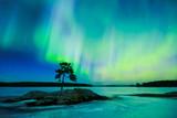 Fototapety Northern lights (Aurora borealis) in the sky