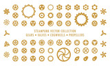 Steampunk Collection (isolated on white) - Gears, Valves & Propellers - 96016285