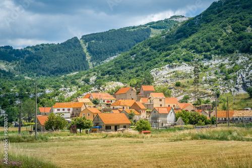 Njegusi historical village in Montenegro