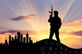 Silhouette of a terrorist